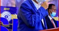 """""""In Gacmaha Madaxweynaha La Doon Doono Maaha Ee Waa In Madaxweynuhu Gacmaha Umaddiisa Somaliland Raadiyo'Guddoomiyaha Xisbiga Mucaaridka ee Xisbiga Ucid Eng Faysal Cali Waraabe."""